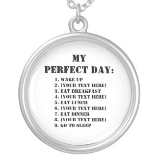 My Perfect Day Round Pendant Necklace