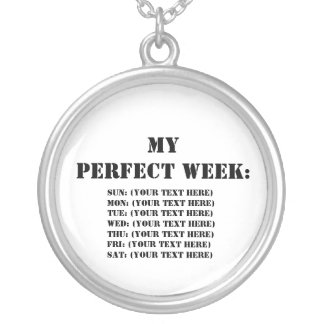 My Perfect Week: Round Pendant Necklace