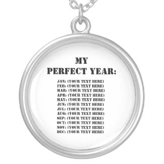My Perfect Year: Round Pendant Necklace