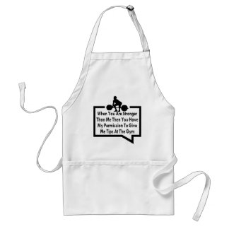 My Permission To Give Me Tips At The Gym Adult Apron
