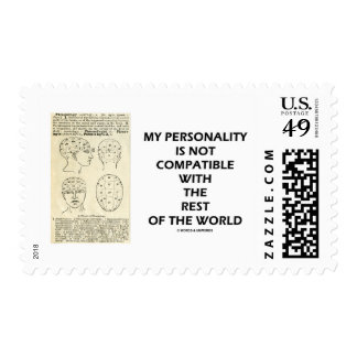 My Personality Is Not Compatible Rest Of The World Stamp