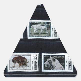 My personalized stamps p1, by zazzle.com/dorinco*/ triangle sticker
