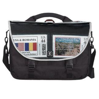 """My personalized stamps"" p3,by zazzle.com/dorinco* Laptop Computer Bag"