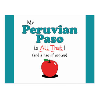 My Peruvian Paso is All That! Funny Horse Postcard