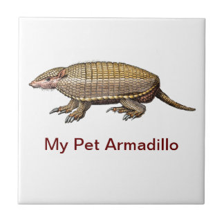 My Pet Armadillo - Cute & Cuddly - YES ! Ceramic Tile