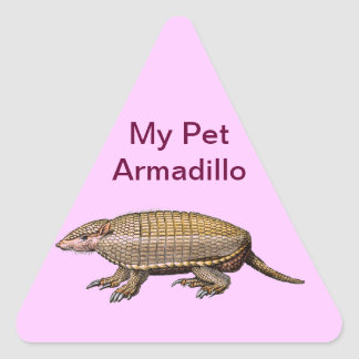 My Pet Armadillo - Cute & Cuddly - YES ! Triangle Sticker