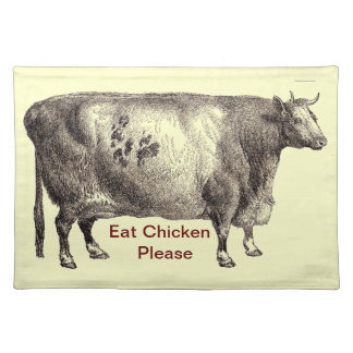 My Pet Bovine (Bull or Cow) Placemats