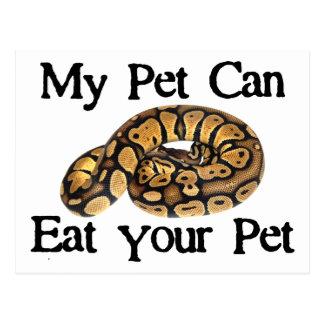 My Pet Can Eat Your Pet Postcard