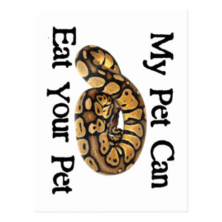 My Pet Can Eat Your Pet Postcard