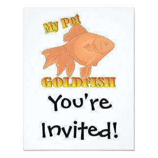 my pet goldfish card