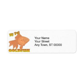 my pet goldfish label