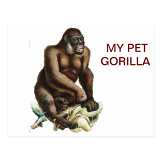 MY PET GORILLA POSTCARD