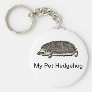 My Pet Hedgehog Keychain