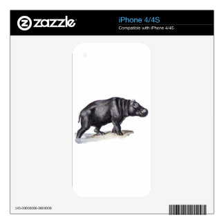 MY PET HIPPO SKIN FOR iPhone 4