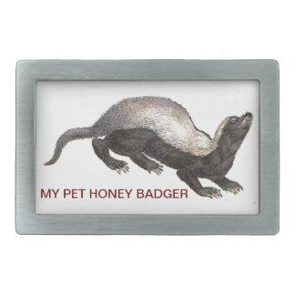 MY PET HONEY BADGER RECTANGULAR BELT BUCKLE