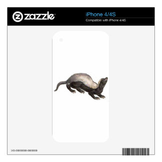 MY PET HONEY BADGER DECALS FOR THE iPhone 4S