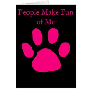 My Pet humor card