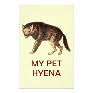 MY PET HYENA - Ha-Ha Stationery