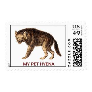 MY PET HYENA - POSTAGE STAMP
