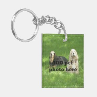 My pet is home alone photo square keychain