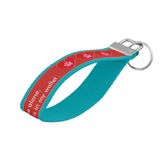 My pet is home alone strap  photo keychain
