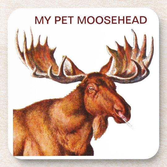 MY PET MOOSEHEAD DRINK COASTER