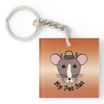 My Pet Rat (Cowboy) Keychain