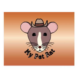 My Pet Rat (Cowboy) Post Cards