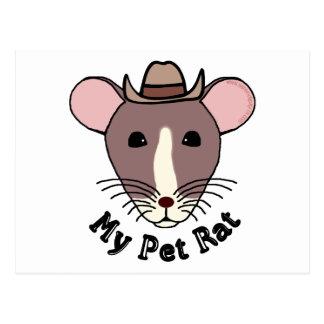 My Pet Rat (Cowboy) Post Card