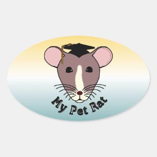 My Pet Rat (Graduate) Oval Sticker
