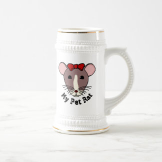 My Pet Rat (w/Red Bow) Beer Stein