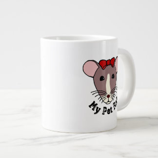 My Pet Rat (w/Red Bow) Large Coffee Mug