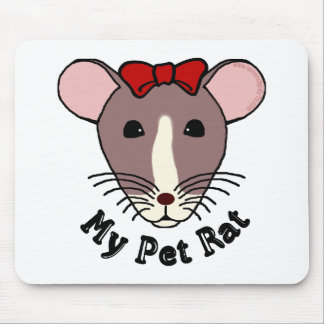My Pet Rat (w/Red Bow) Mouse Pad