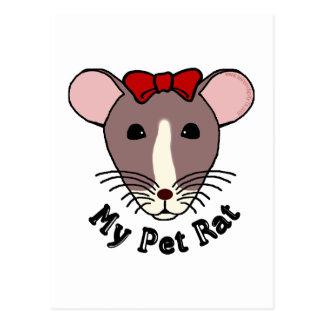 My Pet Rat (w/Red Bow) Postcards