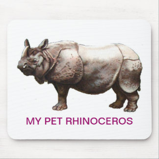 MY PET RHINOCEROS MOUSE PAD