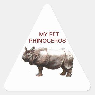 MY PET RHINOCEROS STICKER