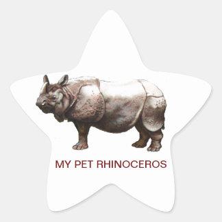 MY PET RHINOCEROS STAR STICKERS