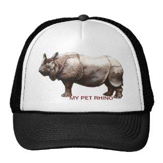MY PET RHINOCEROS TRUCKER HAT