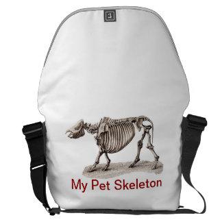 MY PET SKELETON COURIER BAG