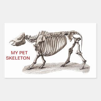 MY PET SKELETON RECTANGULAR STICKERS