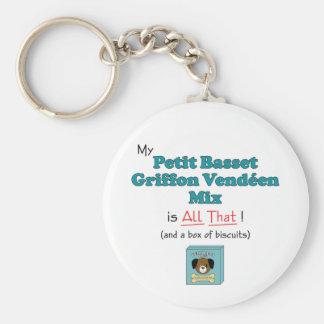My Petit Basset Griffon Vendeen Mix is All That! Keychain