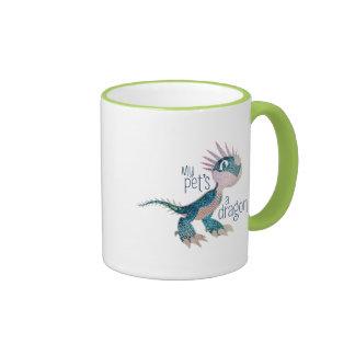 My Pet's A Dragon Ringer Coffee Mug