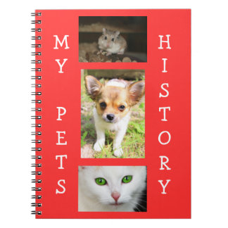 My Pets History Record Book Notebook