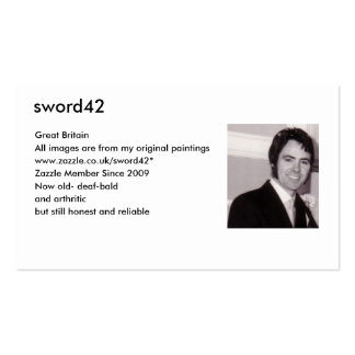 MY PHOTO sword42 Great Britain All images ar Business Card