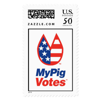 My Pig Votes USA Stamp