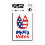 My Pig Votes USA Stamp