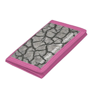 My Piggy Bank is Cracked, Mississippi Mud Tri-fold Wallet