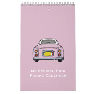 My Pink Figaro Car Small Calendar, Single Page Calendar