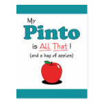 My Pinto is All That! Funny Horse Postcards