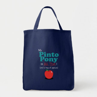My Pinto Pony is All That! Funny Pony Tote Bags